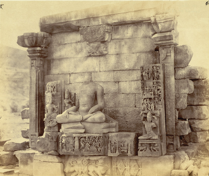 General view of remains of Buddhist temple of later date than the Stupa, Bharhut